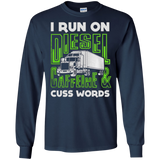 I RUN ON DIESEL CAFFEINE AND CUSS WORDS T-SHIRT