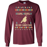 Quail Christmas T-Shirt, Sweater Vintage Retro T-Shirt