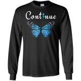Semicolon Mental Health Awareness Continue Butterfly Tshirt