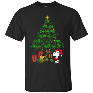 Snoopy For Unto You Is Born This Day In The City Christmas Shirt