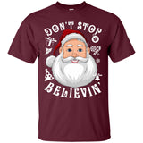 Don't Stop Believin' Santa Xmas Gift Christmas