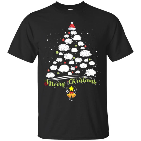 Merry Christmas Tshirt Hedgehog Lover Xmas Gift