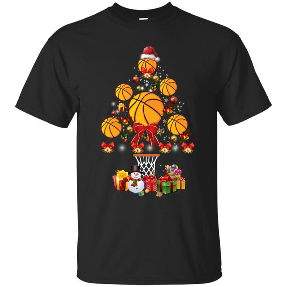 Basketball Christmas Tree Shirt