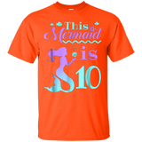 Mermaid Birthday Shirt - 10th Birthday