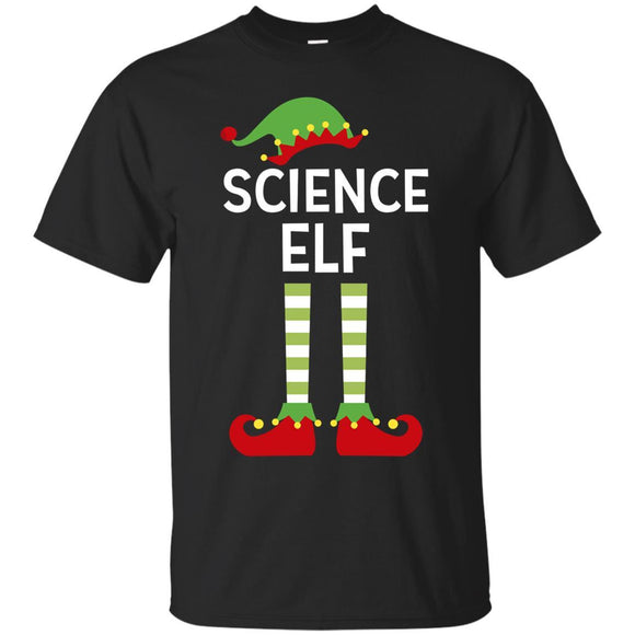 Science Elf Teacher Funny Matching Ugly Christmas Shirt
