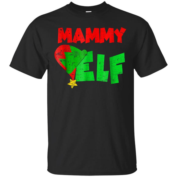 Mammy Elf Xmas Matching Holiday Season Christmas T-shirt