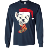 Funny Westie Stocking With Treats Christmas T-Shirt Dog Tee
