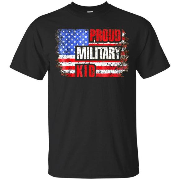 Proud Military Kid TShirt Best US Flag Patriotic Apparel JAQ T-Shirt