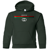 Gucci Logo Vintage For Men Women Youth Inspired T Shirt G185B Gildan Youth Pullover Hoodie