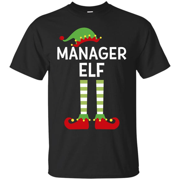 Manager Elf Boss Funny Matching Ugly Christmas Shirt