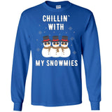 Chillin With My Snowmies Christmas Shirt Funny Cute Snowman