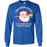 Neil deGrasse Tyson Santa Knows Physics Christmas T-Shirt