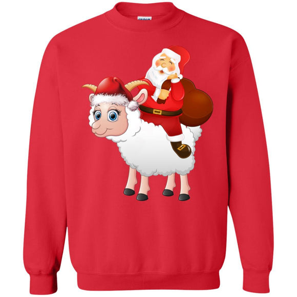 Santa Claus Riding Goat Christmas Sweatshirt