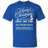 Merry Christmas Joy Love Running Outdoors Gift Tshirt