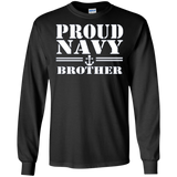 Pride U.S. Army Gift Proud Navy Brother Long Sleeve T-Shirt