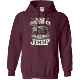 Mens Never Underestimate An Old Man With A Jeep T Shirt