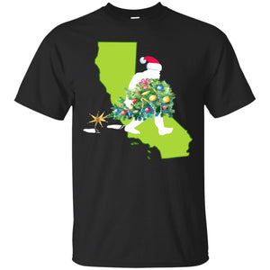 California Bigfoot State Christmas Tree T Shirt T-Shirt Mugs