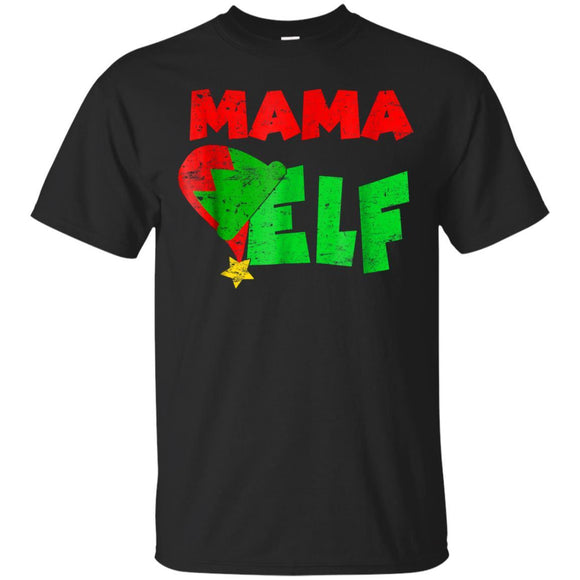 Mama Elf Xmas Matching Holiday Season Christmas T-shirt