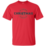 Merry Christmas Happy New Year Graphic Logo T-Shirt