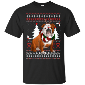 Cute English Bulldog Christmas Shirt Funny Xmas Gift T-shirt, Hoodie, Tank