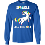 Cool Unicorn Christmas Shirt Sparkle All The Way Shirt