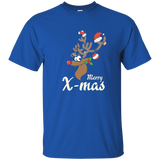 Merry Xmas Christmas Reindeer Rudolph Red Nose T-shirt