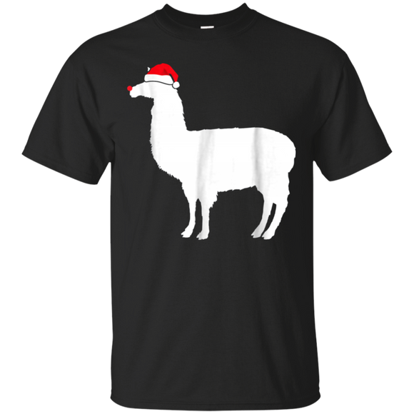 Alpaca T-shirt, Santa Hat Christmas T-shirts