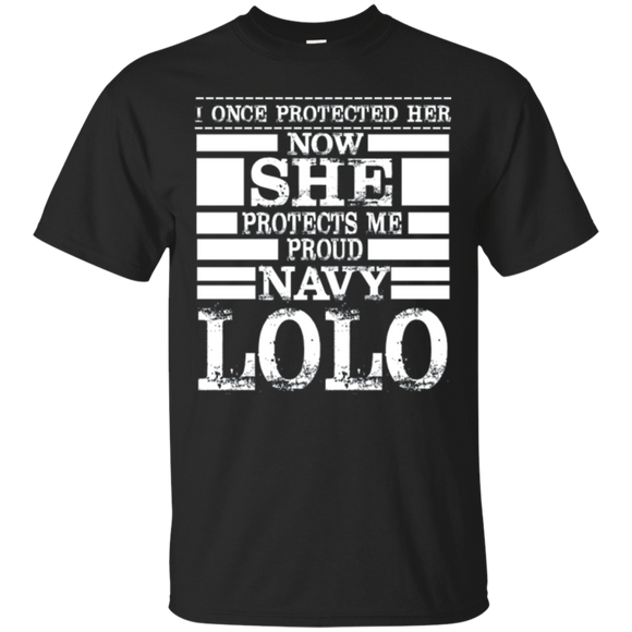 Proud Navy LOLO Daughter Military Air Force Navy T Shirt