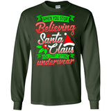 Funny Gift Believe in Santa Christmas Shirt