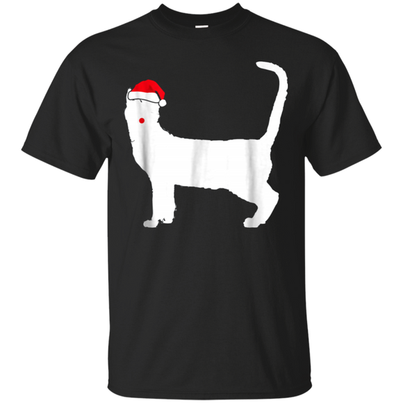 Bengal Mix Cat Santa Hat T-Shirt Gifts For Christmas Day
