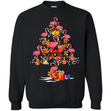 Flamingo Christmas Tree Merry Christmas Flamingo Shirt