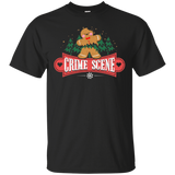 Crime Scene Funny Christmas gingerbread cookie funny T-shirt