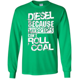 Mens Funny Diesel Truck T-Shirt, Hybrid's Can't Roll Coal