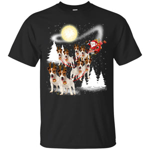 Jack Russell Terrier Dog Merry Christmas T Shirt