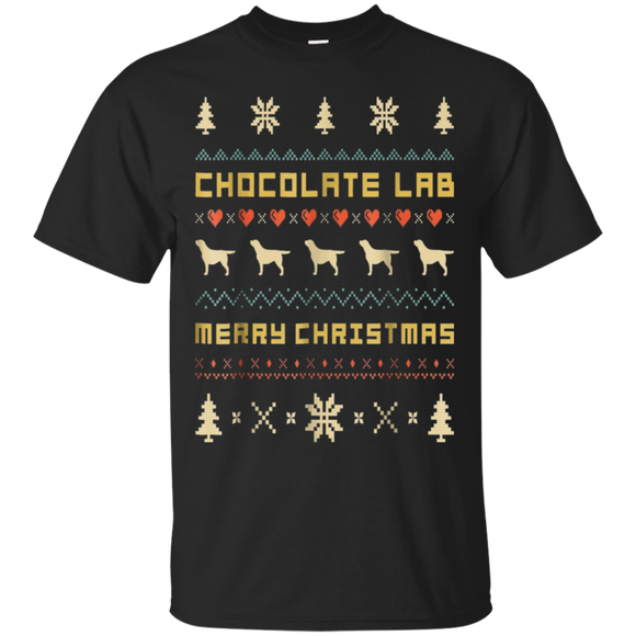CHOCOLATE LAB T-Shirt, Ugly Christmas Sweater T-shirt