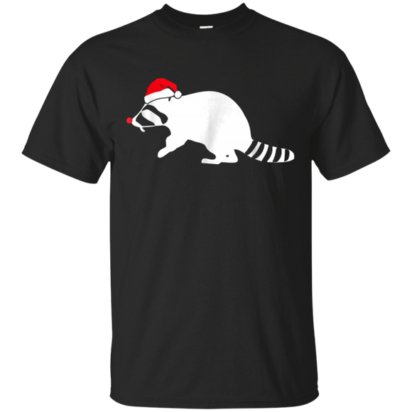 Raccoon Tshirt Gift, Santa Hat Christmas T-shirts