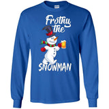 Frothy The Snowman | Beer Drinking Christmas T-Shirt Gifts