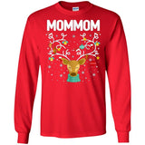 MomMom Reindeer Ugly Xmas Santa T-shirt Christmas Family