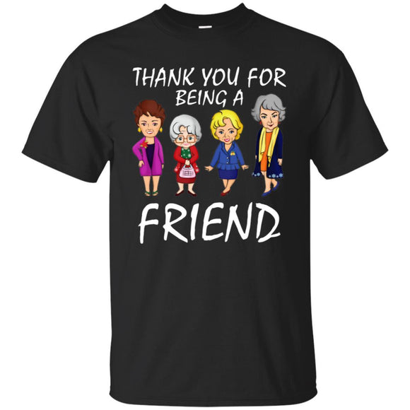 Thank You For Being A Golden Friend Girl Christmas Shirt