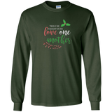 O Holy Night LOVE ONE ANOTHER Christmas caroling shirt