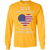 Love For My Brave Uncle In The Army American Heart TShirt