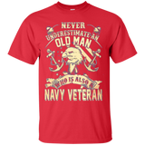 Never Underestimate an OLD MAN is Navy Veteran Long Sleeve