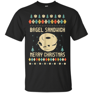 Bagel Sandwich Ugly Christmas Sweater T-shirt