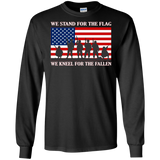 I Don't Kneel I Stand For The National Anthem Flag T-shirt