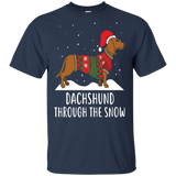 Dachshund Through The Snow Funny Christmas Long Sleeve Shirt