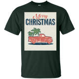 Merry Christmas Red Truck Palm Trees Xmas T-Shirt