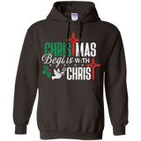 Christmas Begins With Christ Christian Pastor Gift T-Shirt