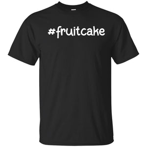 Hashtag fruitcake t-shirt. Christmas tree lights tshirt.