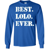 Best Lolo Ever tshirt Filipino Grandpa (army style font)
