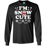 I'm Snow Cute | Funny Snowman Christmas T-Shirt Gifts